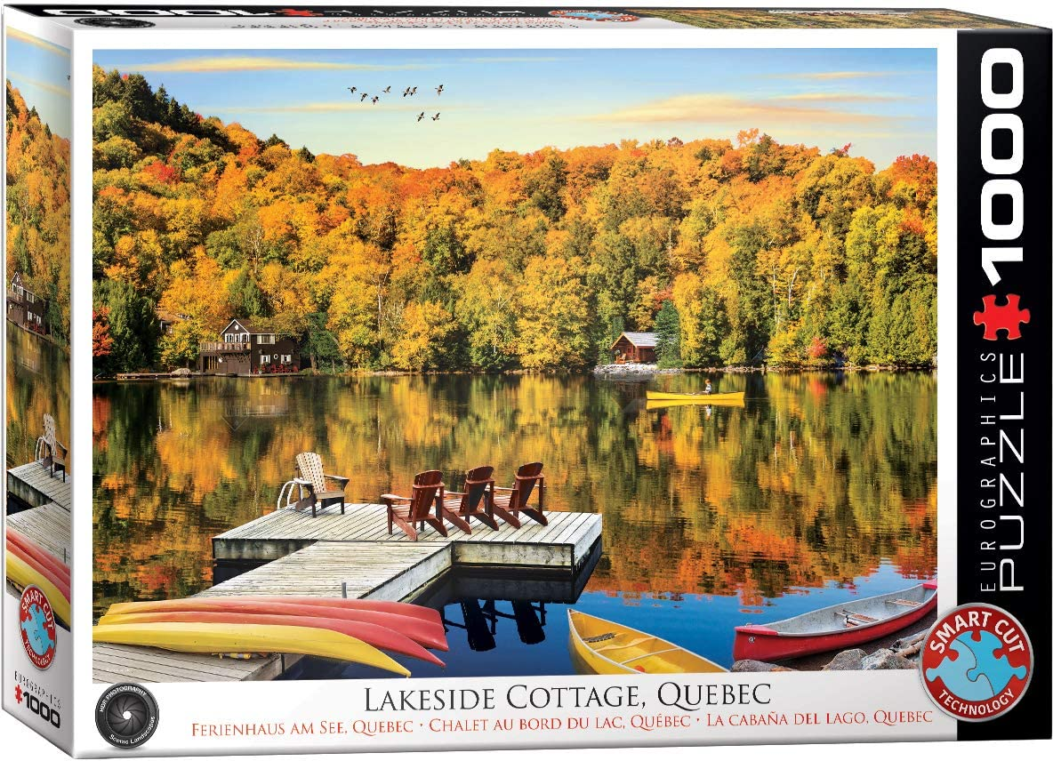 Lakeside Cottage, Quebec - 1000pc Eurographics Puzzle
