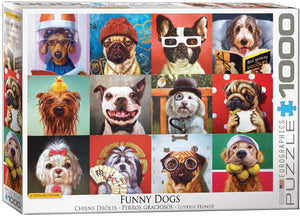 Funny Animals : Funny Dogs - 1000pc Eurographics Puzzle