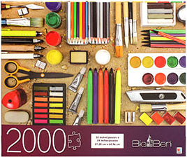Big Ben Puzzle : School Supplies - 2000pc
