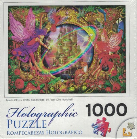 Holographic Puzzle Faerie Glass - 1000pc