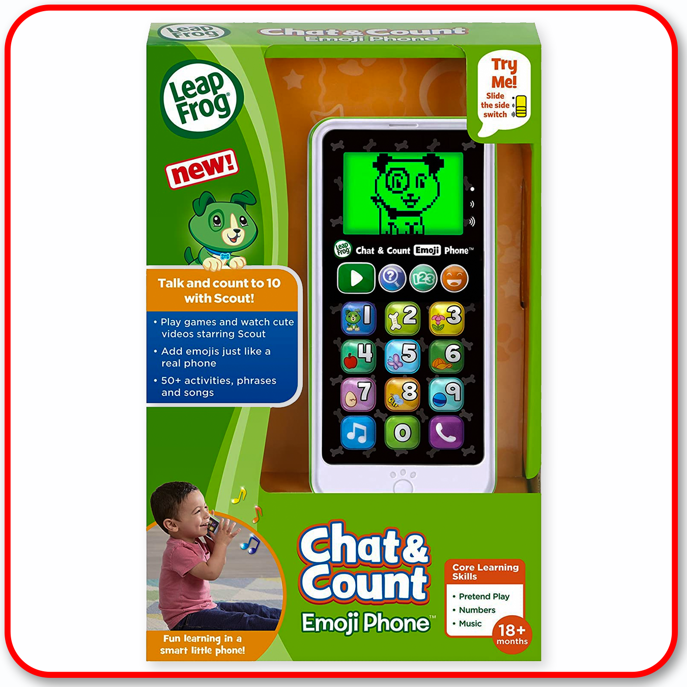 Leap Frog - Chat & Count Emoji Phone : Green