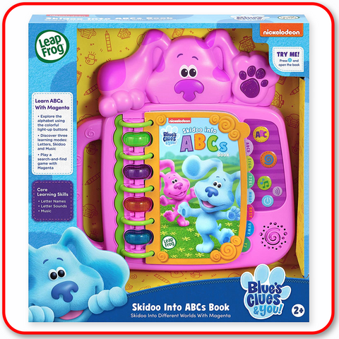 Leap Frog Blue Clues - Skidoo Into ABCs Book Magenta
