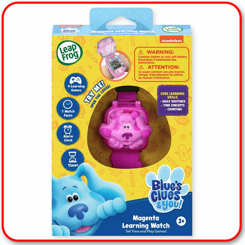 Leap Frog Blue Clues - Magenta Learning Watch
