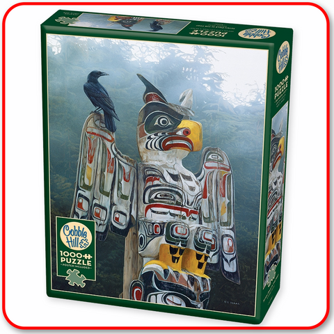 Totem Pole in the Mist - Cobble Hill 1000pc Puzzle