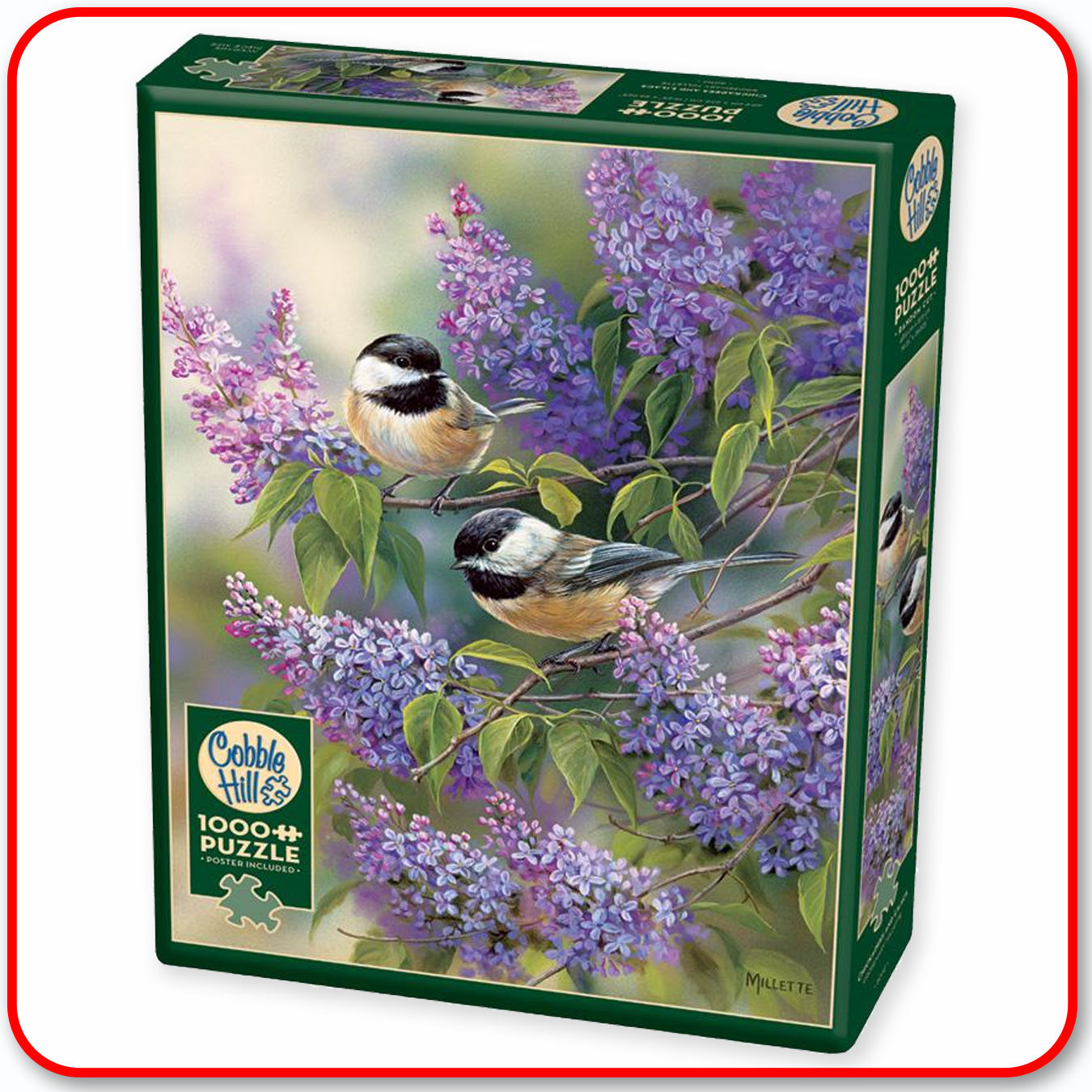 Chickadees and Lilacs - Cobble Hill 1000pc Puzzle