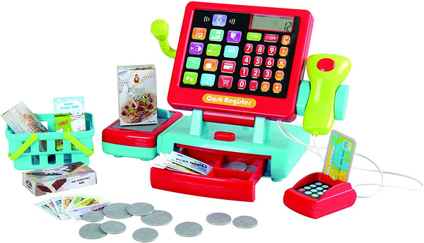 PlayGo Cash Register Toy & Accessories - Touch &Count Supermarket Till Pretend Play Actions & Sounds