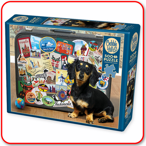 Dachshund 'Round the World - Cobble Hill 500pc Puzzle