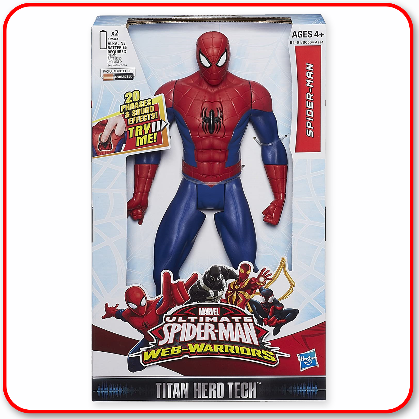 "Marvel Ultimate Spider-Man Web Warriors Titan Hero Tech Electronic - Spider-Man 12"" Figure"