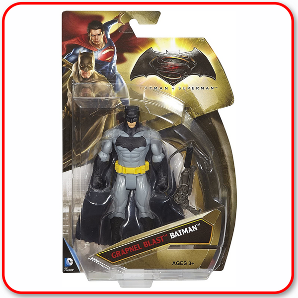 "Batman vs. Superman DOJ - Grapnel Blast Batman Grey/Black 6"" Figure"