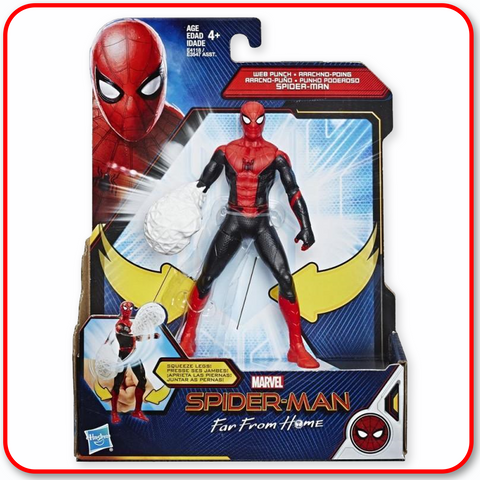 Spiderman - Far From Home 6in Feature Hero Suit : Web Punch Spiderman