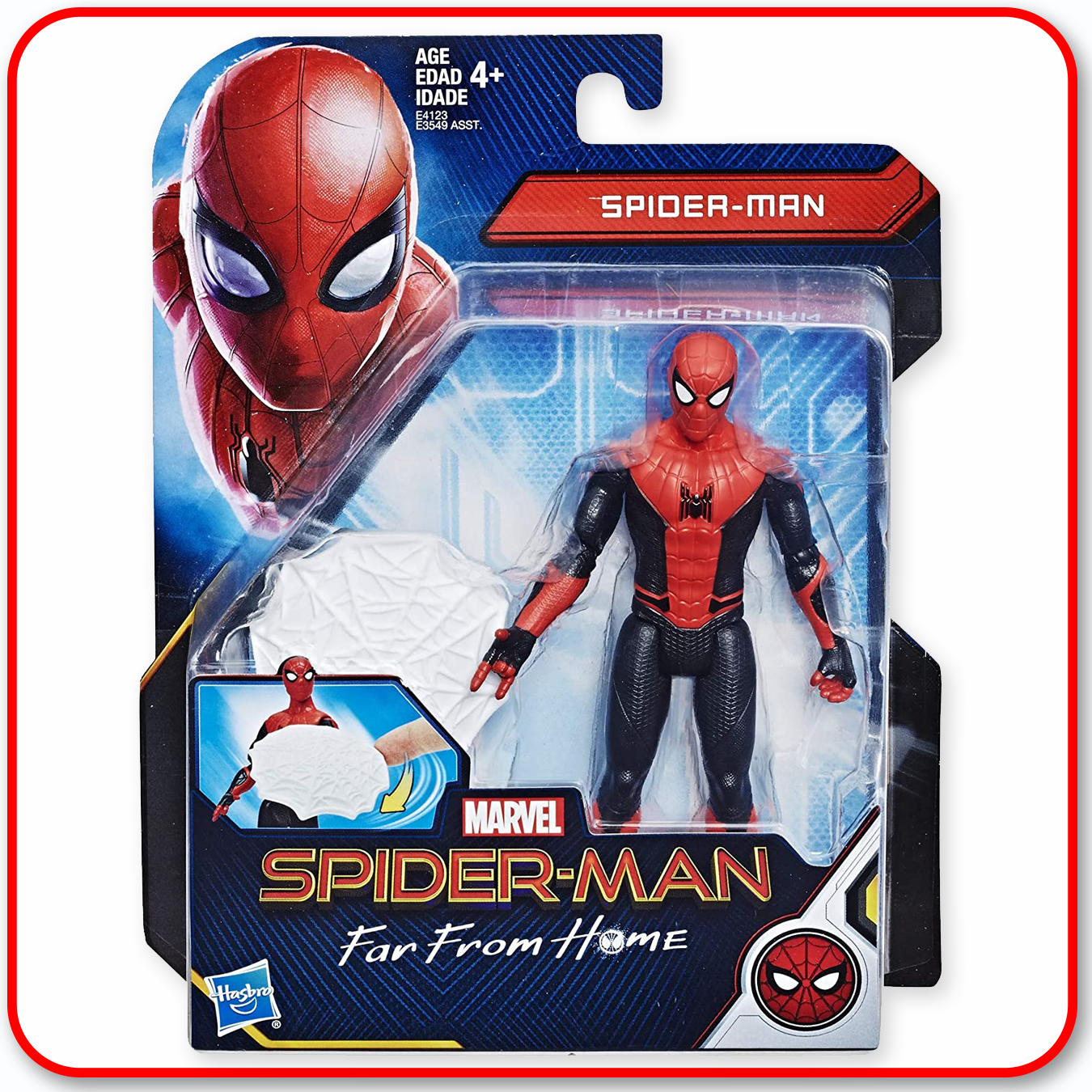 Spiderman - Far From Home 6in Figure - Web Shield Spiderman