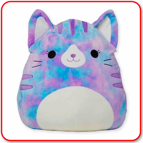 "Squishmallows - 16"" Eloise the Blue Tie Dyed Cat"