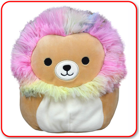 "Squishmallows - 12"" Leonard the Rainbow Mane Lion"