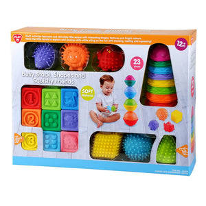 PLAYGO Busy Stack Shapes & Squishy Friends