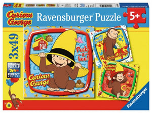 Curious George & Friends3 x 49 pcs Puzzles