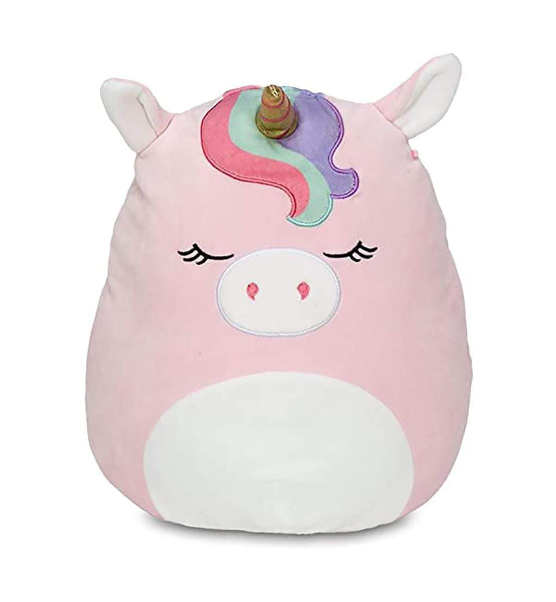 "Squishmallows - 16"" UNICORN RAINBOW BANGS Ilene Pink"