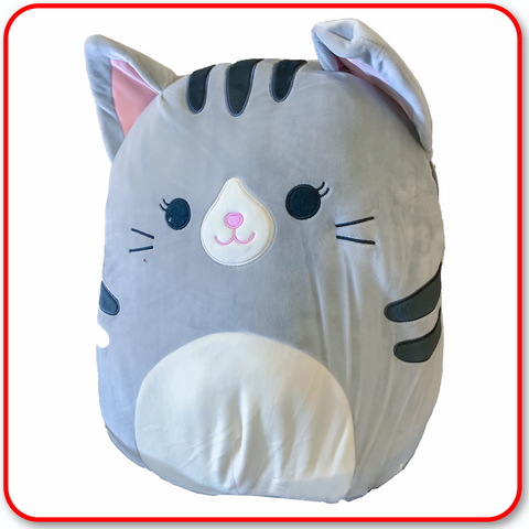"Squishmallows - 16"" TALLY The Grey Cat : with Open Eyes"