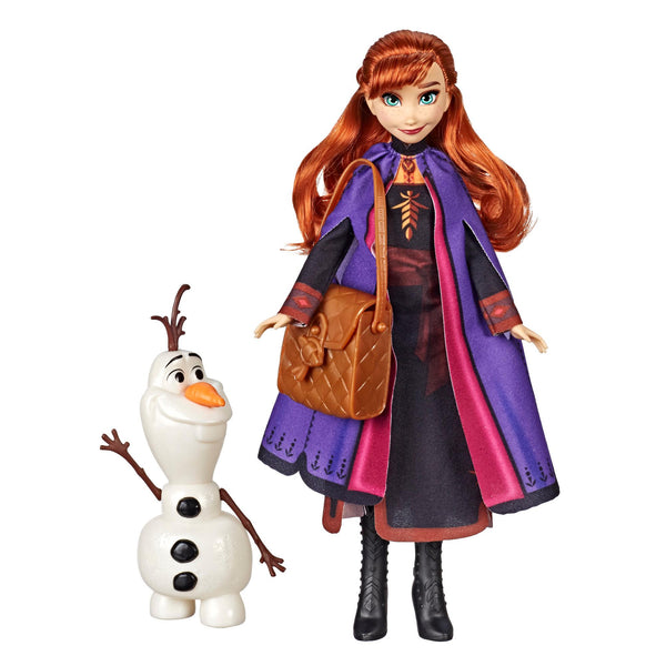 Disney Frozen - Anna Doll With Buildable Olaf Figure and Backpack Accessory