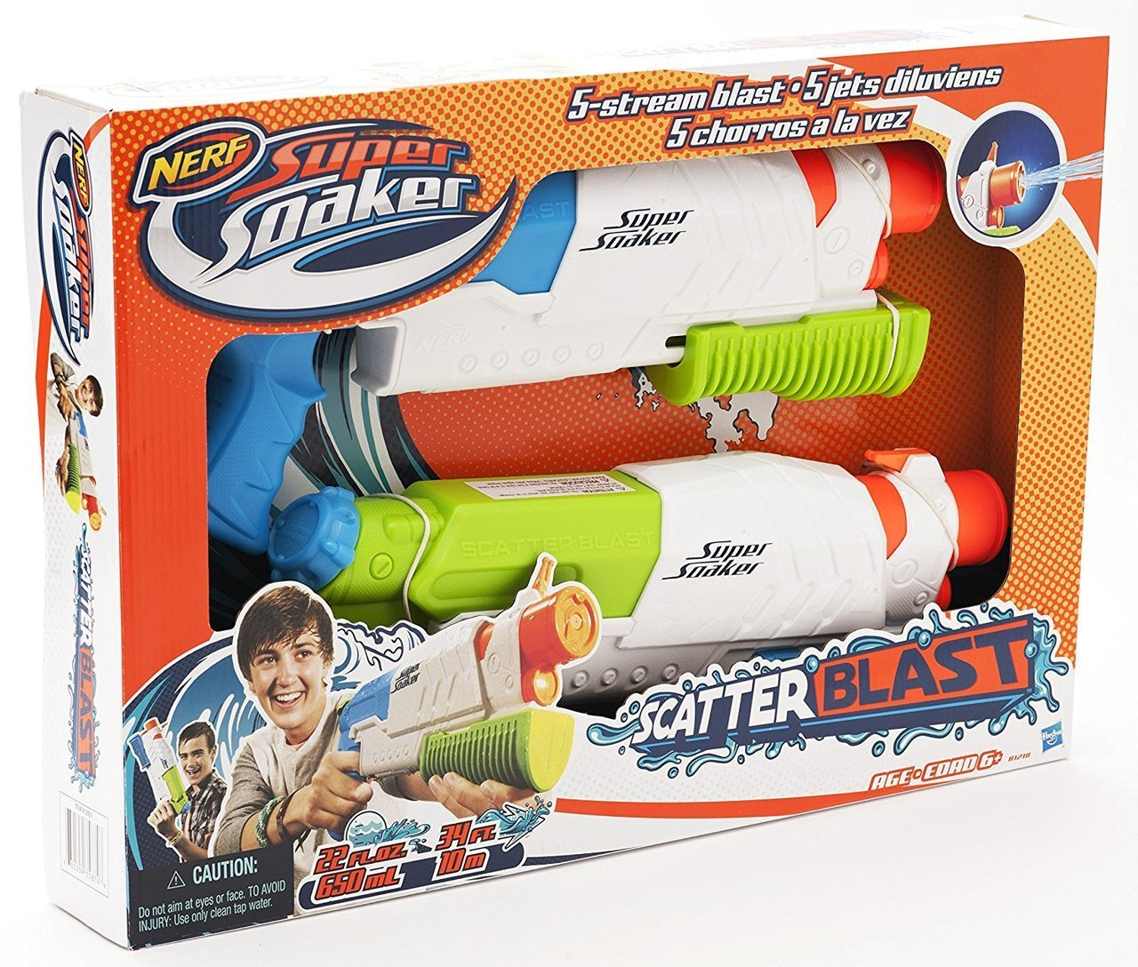 NERF Super Soaker - Scatterblast 2 Pack