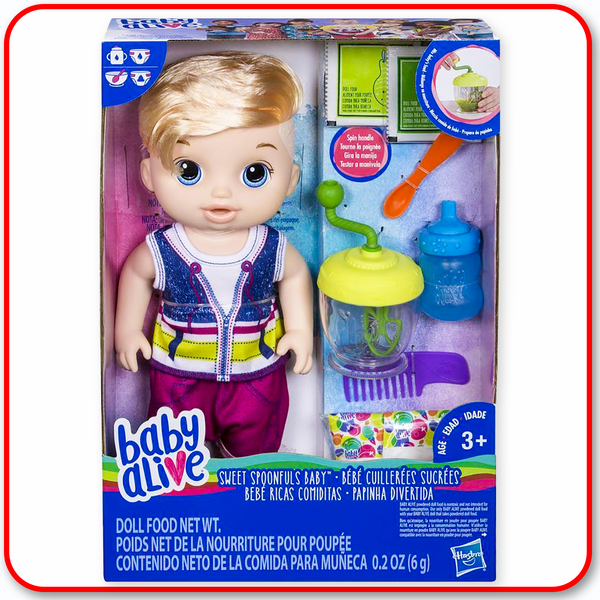 Baby Alive - Sweet Spoonfuls Boy Doll : Blonde Hair