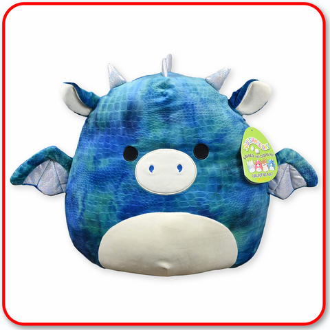 "Squishmallows - 12"" FANTASY Dominic the Blue Dragon"