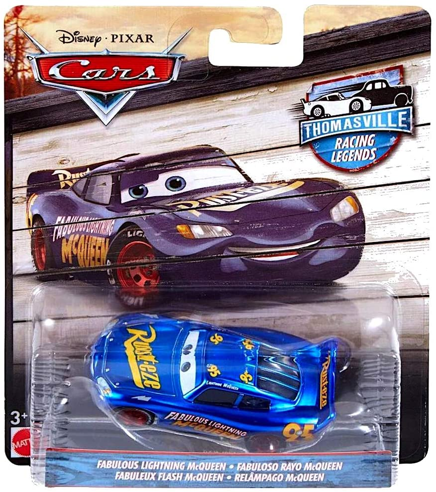 Disney Cars - Thomasville Racing Legends 1:55 Die Cast Car Fabulous Lightning McQueen
