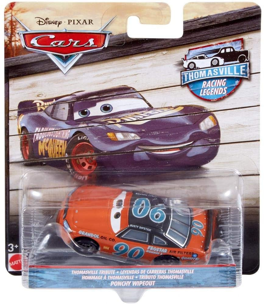 Disney Cars - Thomasville Racing Legends 1:55 Die Cast Car  Ponchy Wipeout