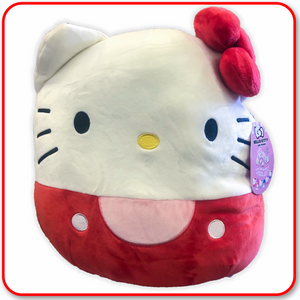 "Squishmallows - 8"" SANRIO - Hello Kitty - Red"