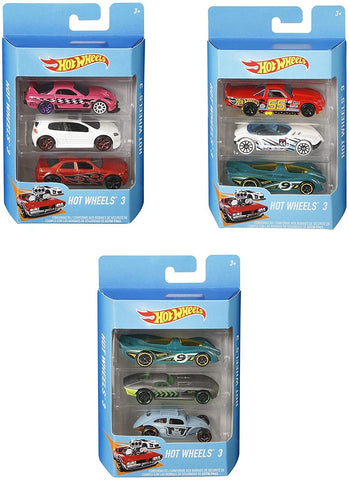 HOT WHEELS CARS 3 PACK STYLES VARY