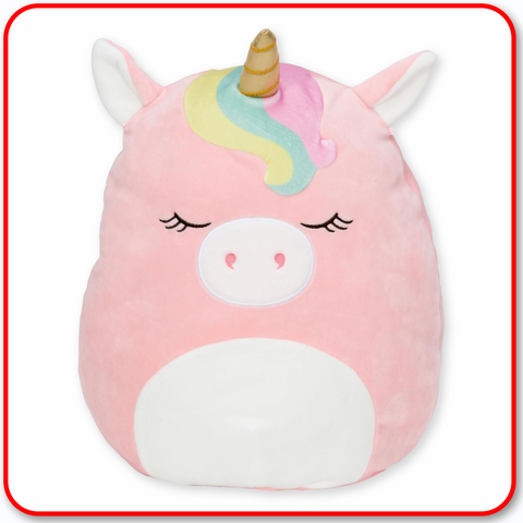 "Squishmallows - 7"" UNICORN RAINBOW BANGS Ilene Pink"