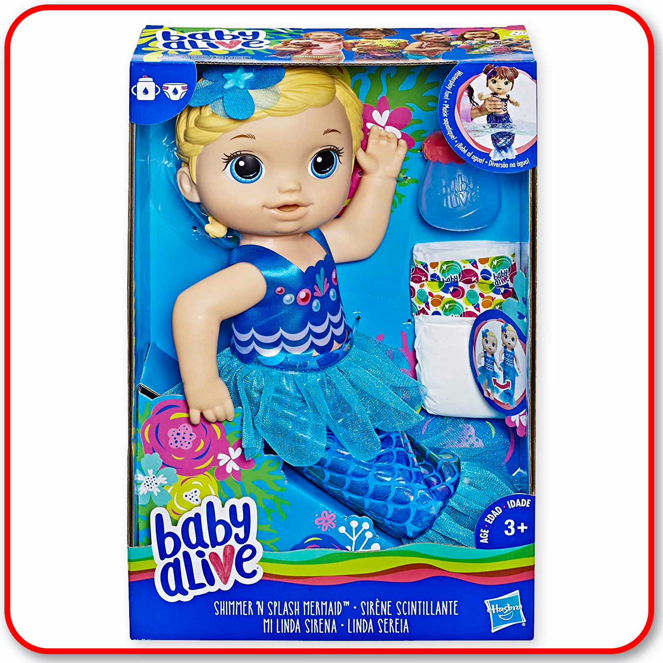 Baby Alive - Shimmer n Splash Mermaid - Blonde