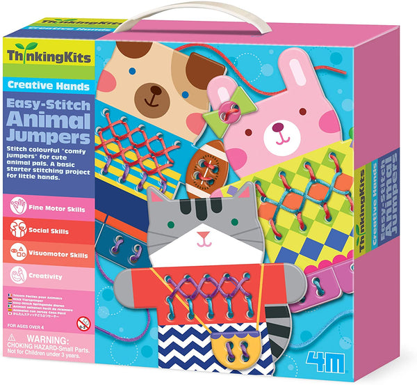 4M - Thinking Kits : Easy Stitch Animal Jumpers