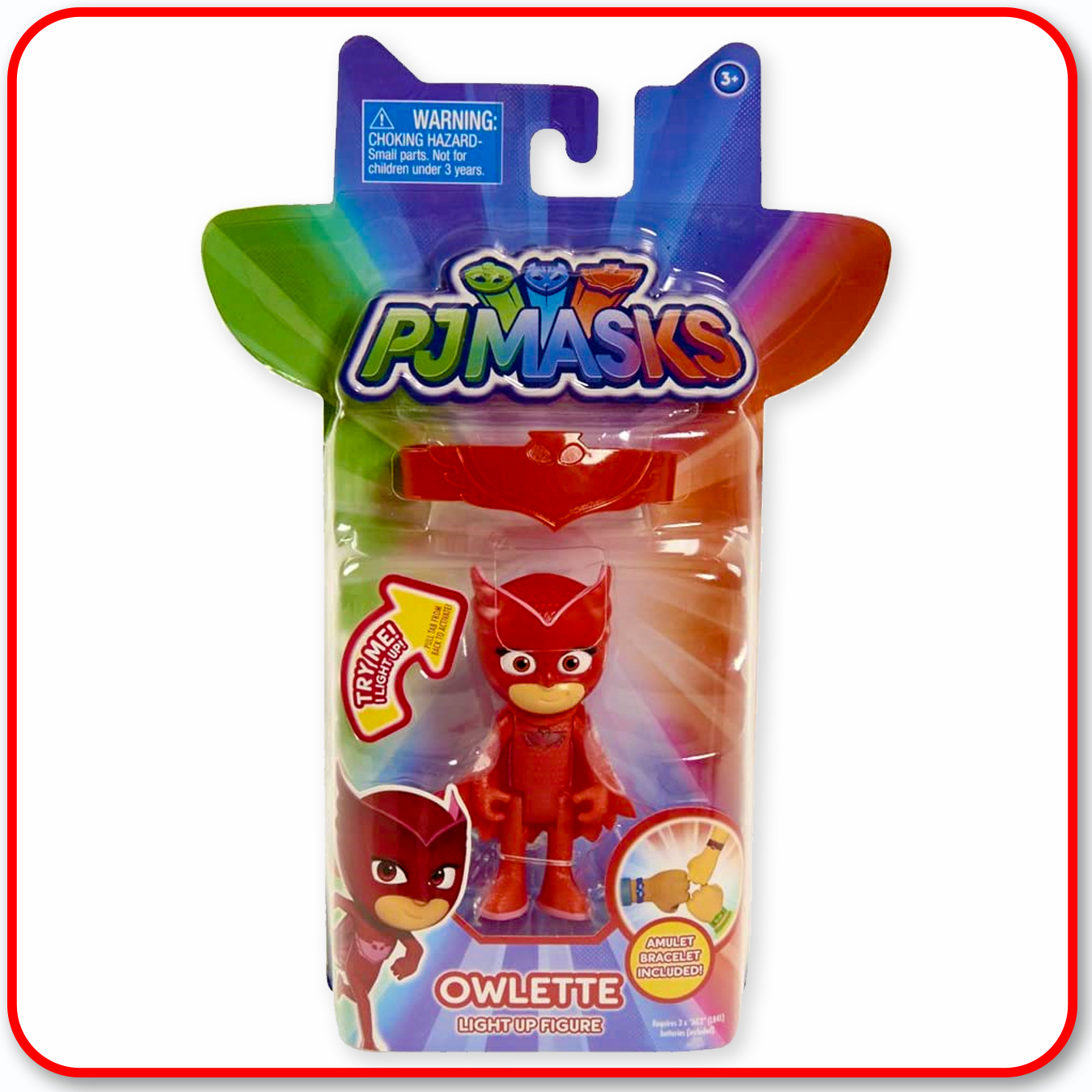 PJ Masks - Light Up Owlette Figure with Amulet Wristband