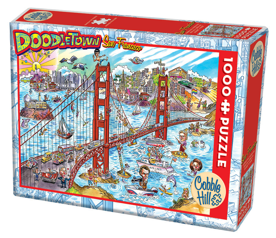 Doodletown: San Francisco - Cobble Hill 1000pc Puzzle