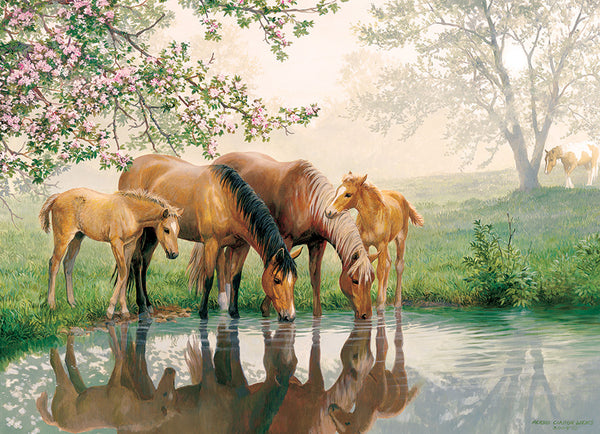 Horse Family (Family) - Cobble Hill 350pc Puzzle