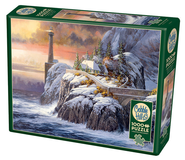 Winter Lighthouse - Cobble Hill 1000pc Puzzle