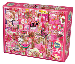 Pink - Cobble Hill 1000pc Puzzle