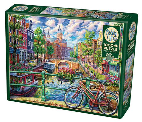Amsterdam Canal - Cobble Hill 1000pc Puzzle