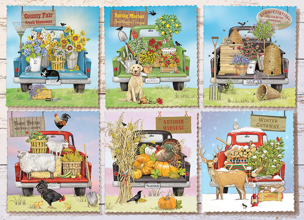 Farmer's Market Trucks - Cobble Hill 1000pc Puzzle