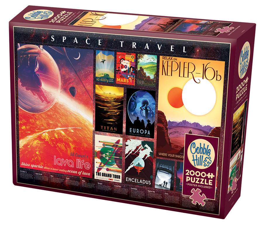 Space Travel Posters - Cobble Hill 2000pc Puzzle