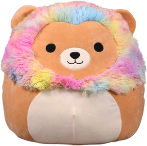 "Squishmallows - 12"" RAINBOW MANE Lenord the Lion"