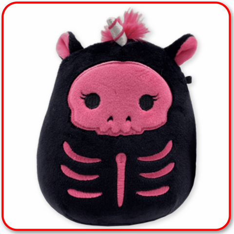 "Squishmallows - HALLOWEEN 7"" Sketlana the Pink Skeleton Unicorn"