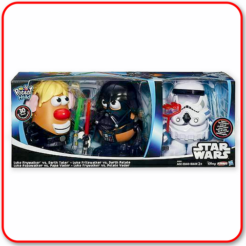 Star Wars Mr. Potato Head Luke Darth Vader Stormtrooper Kohl's Exclusive 3 Pack