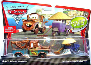 Disney Cars - Character 2 Pack : Race Team Mater / Zen Master Pitty