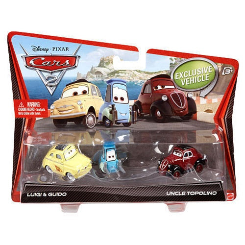 Disney Cars - Character 2 Pack : Luigi & Guido / Uncle Topolino
