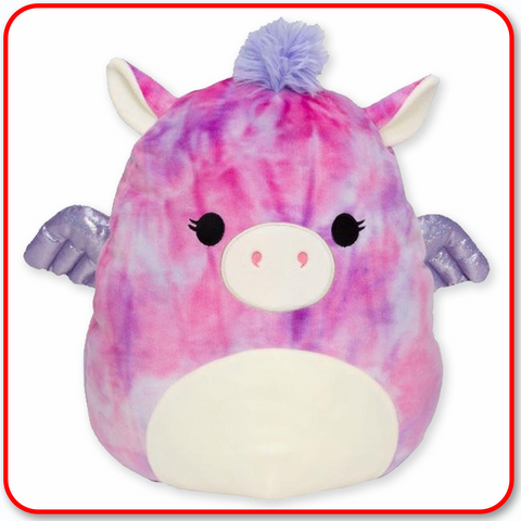 "Squishmallows - 16"" Willow the Tie Dyed Pegasus"