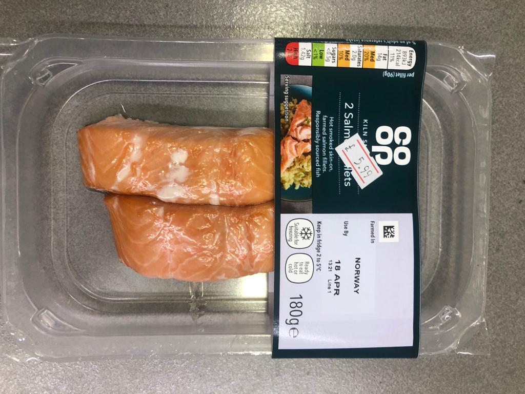 Kiln Smoked Salmon Fillets - 180g