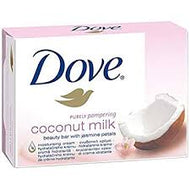 Dove Beauty Cream Soap Bar Coconut Milk x 4