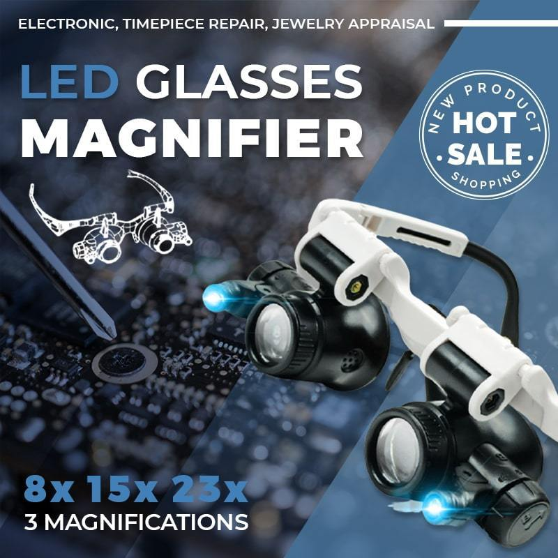 LED Glasses Magnifier ( 8x 15x 23x )