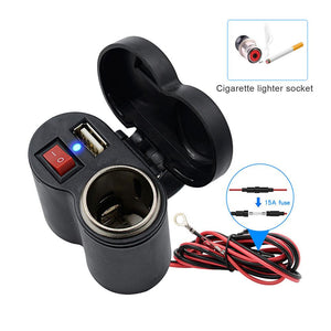 USB charger cigarette lighter combo